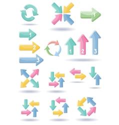 Set of web arrows vector image vector image