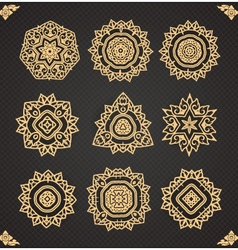 Design elements graphic thai design isolated vector