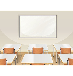 An empty classroom vector image