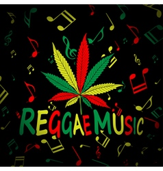 Reggae Music Cannabis vector image
