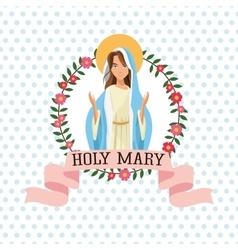 Holy mary religion icon graphic vector