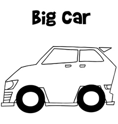 Big car art vector image