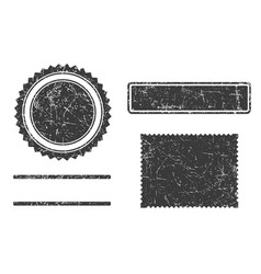 Set of grunge stamps template different forms vector