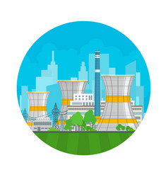 Icon thermal power station vector