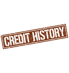 Credit history square grunge stamp vector