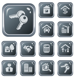 Real estate buttons vector