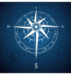 Compass road sign vector image
