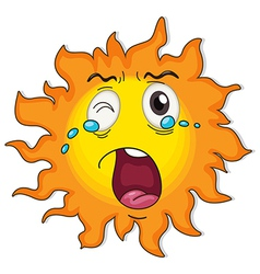 A crying sun vector