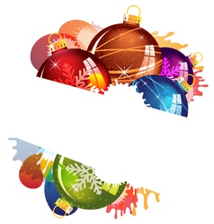 Stained christmas decorations vector