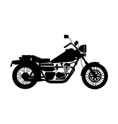 Black motorcycle vector