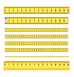 Measuring tape for tool roulette vector