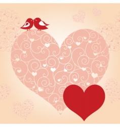 Lovebird greeting card vector