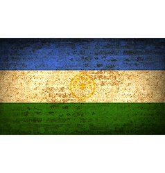 Flags bashkortostan with dirty paper texture vector