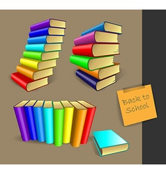Set of school elements vector