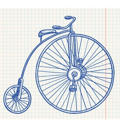 Retro-styled bicycle vector