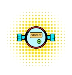 Water meters comics icon vector