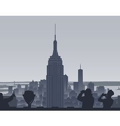 Manhattan sight vector
