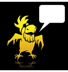 Pirate Parrot Speech Bubble vector image