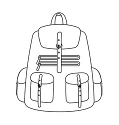 a backpack for thingstent single icon in outline vector image vector image