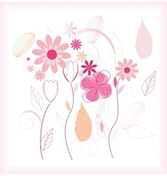 Abstract floral beautiful background vector image vector image