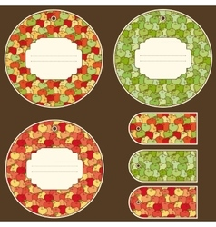 Apple Tags Design Set vector image vector image