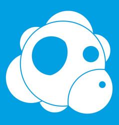 Atom icon white vector