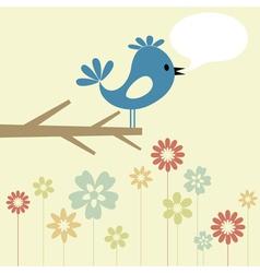 birdie branch vector image vector image