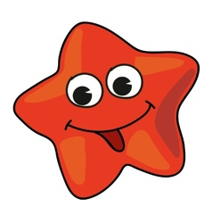 Cartoon starfish vector