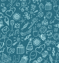 celebration pattern vector image vector image