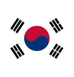 colored flag of south korea vector image