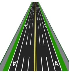Direct road highway with markup dedicated lanes vector