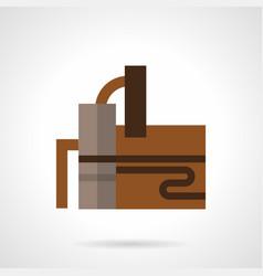 Distillery industry flat color icon vector
