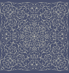 elegant square blue abstract pattern vector image