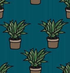 Flower in a pot seamless pattern vector image vector image