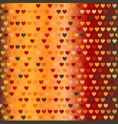 Glowing warm heart pattern seamless background vector