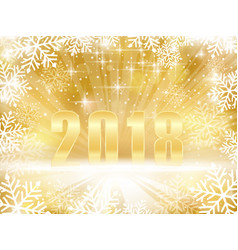 Golden sparkling 2018 new years christmas vector