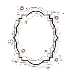 heraldic decorative frame in brown color vector image