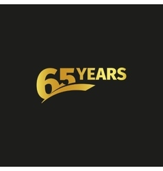 Isolated abstract golden 65th anniversary logo on vector