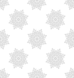 light gray seamless pattern of openwork stars vector image