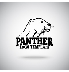 logo template with Panther for sport teams vector image