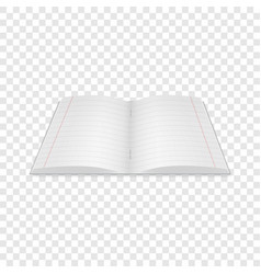 Notebook icon realistic style vector