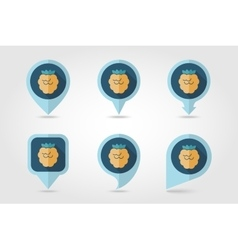 Raspberry mapping pins icons vector image vector image