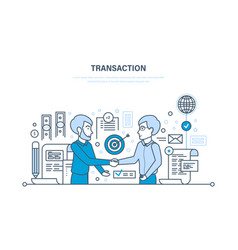 secure transactions payments partnership vector image vector image