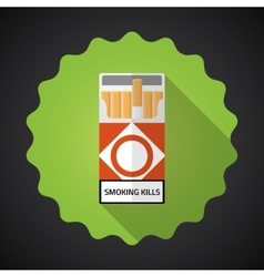 Smoking Cigarette Pack Bad Habit Flat icon vector image