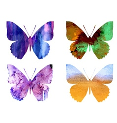 Watercolor butterflies3 vector