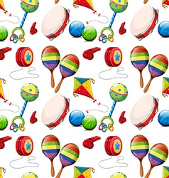 Seamless background with many toys vector