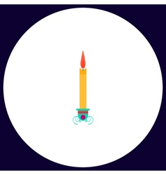 Candle computer symbol vector