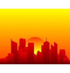 City skyline and sun vector image
