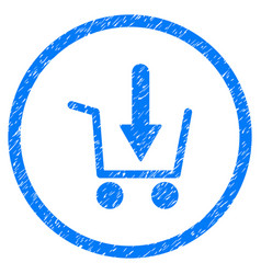 Add to basket rounded grainy icon vector