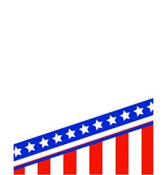 usa flag frame vector image